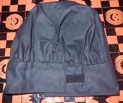 CHEF BAKERS HAT solid black by RITZ mens or womens ONE SIZE CLOSURE TABS NICE @@