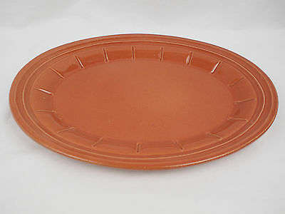 "Vintage Roseville Pottery Company Ohio 15"" Platter 440 USA Made Stoneware VGC"