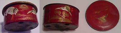 1900's ANTIQUE Metal Box hand-painted SUCHARD DELUXE CHOCOLATE Royal Romania