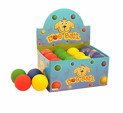 4x Rubber Dog Balls Toys Floating Tennis Fetch Puppy Training Ball Size 6.3CM UK