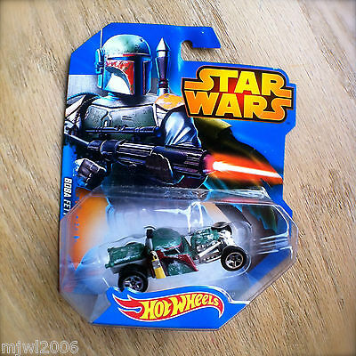Disney STAR WARS Hot Wheels BOBA FETT #10 diecast Mattel Bounty Hunter 2014 INTL