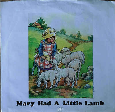 PAUL McCARTNEY & WINGS -MARY HAD A LITTLE LAMB- APPLE 1851 - PICTURE SLEEVE ONLY