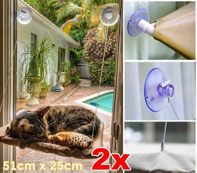 2x Window Mounted Cat Bed Sunny Seat Pet Wall Home Suction Cover