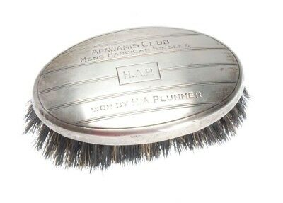 Antique Sterling Silver Commemorative Brush From The Apawamis Club