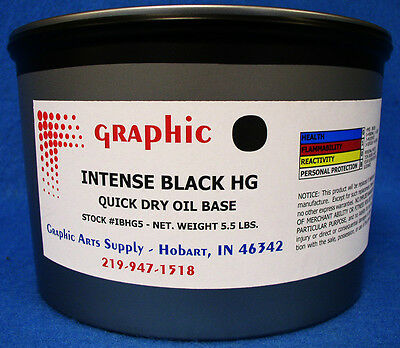 Intense Black Offset Ink Quick Dry Oil Base Vacuum Packed 5.5 Lb Made In Germany
