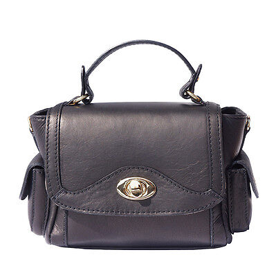 376fff4b17385 HANDBAG BAG ITALIAN Genuine Leather Hand made in Italy Florence 7002 ...