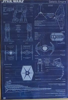 Star Wars : Galactic Empire Ship Blueprints-Licensed POSTER-91cm x 61cm-Brand N