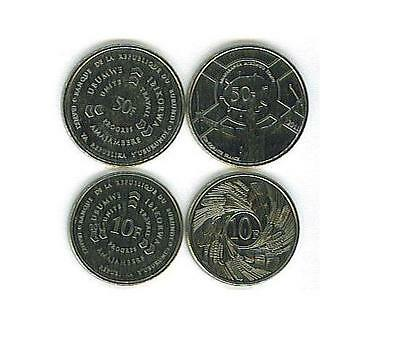 Burundi: 4 Piece Uncirculated Coin Set, 1To 50 Francs