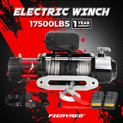IP67 17000LBS Synthetic Rope Winch Waterproof 6914KG 12V Wireless Remote 4WD 4X4
