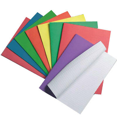 SCHOOL EXERCISE BOOKS A5 Lined ruled Blank packs SILVINE RHINO 48 page notebook