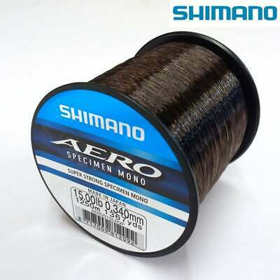 Shimano NEW Version Aero Specimen Fishing Mono Line 1/4lb Bulk Spool *All Types*