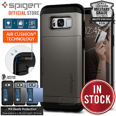 Galaxy S8/S8 Plus/S7/S7 Edge Case,Genuine SPIGEN Slim Armor CS Cover for Samsung