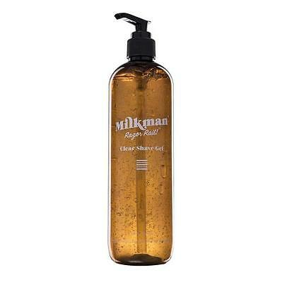 Razor Rail Clear Shave Gel (soap free) by Milkman Grooming Co. 500mL