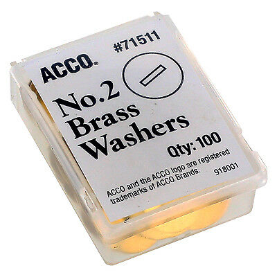 """ACCO Washers For Prong Paper File Fasteners, 1-1/4 Inch Diameter, 100/box"""