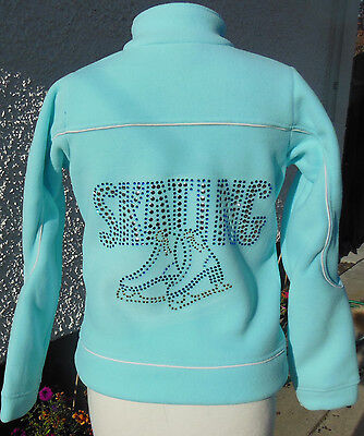 NEW Glitzy Quality Ice Skating Fleece Dress Jacket - 11-12 Years & 15-16 Years