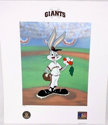 Looney Tunes McKimson GIANTS Warner Bugs Bunny Now Pitching BASEBALL Litho P/P