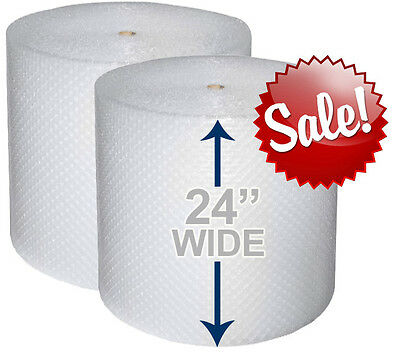 "24"" WIDE 3/16"" x 350' Ft Bubble Roll Small Bubbles 700 SQFT Cushion Wrap"