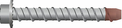 10 x 100mm 50pc Galvanised Screw Bolt Masonry/Concrete Bolt with Hex Head