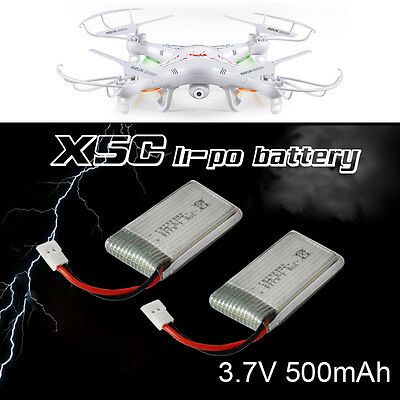2Pcs 3.7 V 500Mah Lipo Battery For Syma X5C X5C-1 X5SC RC Quadcopter