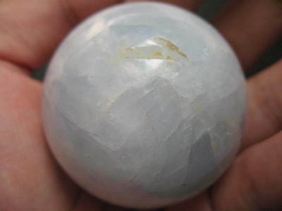 50mm VERY RARE SHINING BLUE CALCITE GEMSTONE CRYSTAL BALL CARVING CARVE