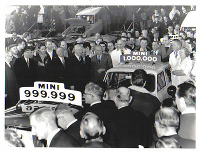 Mini Production Line 1 Millionth Mini original b/w Press Photograph + A40