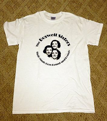 """""""The Boswell Sisters: Their Music Goes Round and Round"""" T-Shirt SIZE LARGE"""