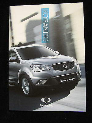 Ssangyong Korando Sales Brochure S Es Ex 14 Pages