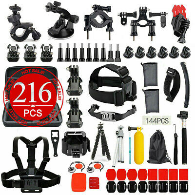Accessories 216pcs Pack Case Chest Head Floating Monopod GoPro Hero 7 6 5 4 3+2