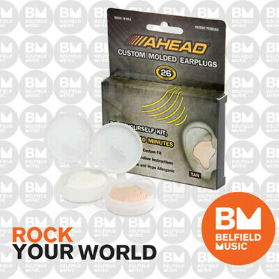Ahead Custom Moulded Earplugs Tan Colour Ear Plugs Muffs AH-ACME - BNIB - BM