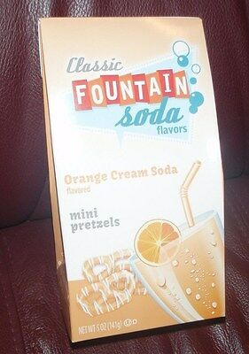 Classic Fountain Soda Orange Cream Soda Mini Pretzels By Wolfgang 5Oz Bag