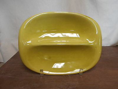 Oval Divided Veg Bowl Russell Wright Steubenville Chartreuse Mid Century Modern