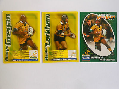 Rugby Union Weet-Bix Cards X 3 George Gregan -2 & 1 Stephen Larkham