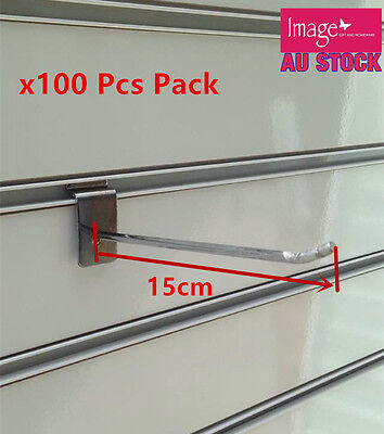 100x Metal Hook 15cm Garage Display Shelve Supermarket Store Rack