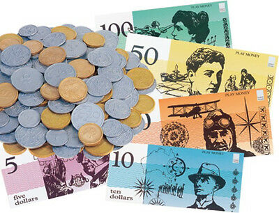 NEW Educational Box of Money - Notes & Coins - Maths Aid - Australian Currency