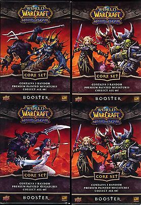 World of Warcraft Miniature Core Booster Packs X4 MINT