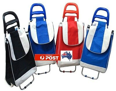 Foldable Rolling Wheeled  Shopping Market Trolling Luggage Cart Bag Basker