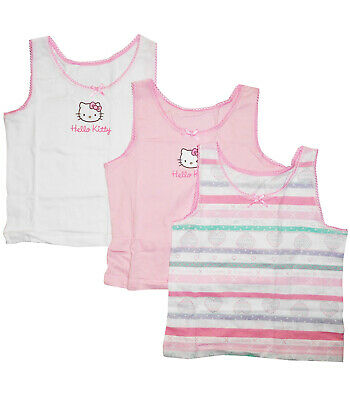 Girls Hello Kitty Vest Top 3 pack Printed 12 18 24 months baby NEW