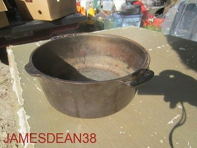"""Vintage  Wagner Ware Dutch Oven 8"""" No Lid Cast Iron R1"""