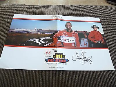 """Kyle Petty Signed Autographed Nascar 12""""x19.5"""" Poster Photo PSA Guaranteed"""