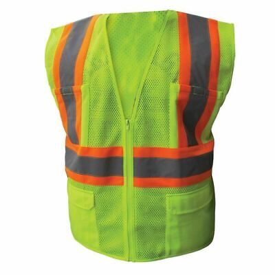 Ironwear 1287 Class 2 Safety Vest W/Two Tone Stripes & 6 Pockets M-5X *Free Ship