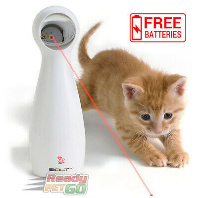 Petsafe FroliCat BOLT Interactive Cat Toy, Laser Light Pointer, Free Battery