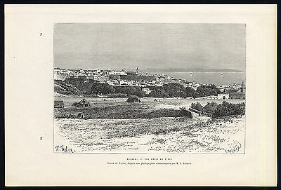 Antique Print-TANGIER-MOROCCO-AFRICA-VIEW-Reclus-Meunier-1886