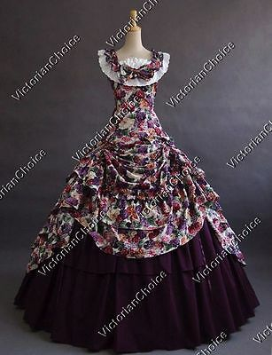 Southern Belle Gown Victorian Princess Dress Theatre Women Clothing 081