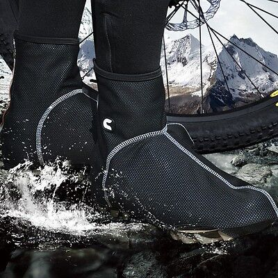 Waterproof CHEJI Winter Cycling Shoe Covers Bicycle Bike Overshoe Fleece Thermal