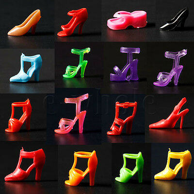 40pcs 20 Pair Diffirent High Heel Shoes For 290mm Barbie Doll Toy Accessories EW
