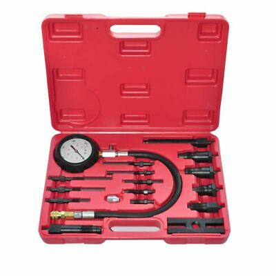 New 17pc Petrol Engine Compression Test Tester Kit Automative Car Guage Tool Set