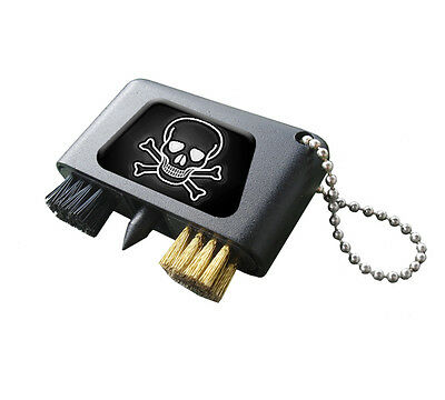 Skull And Crossbones Crested Golf Groove Cleaner.