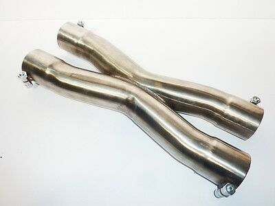 """2.25"""" 57mm Exhaust Stainless Steel X  Pipe Section Divider Bolt On"""