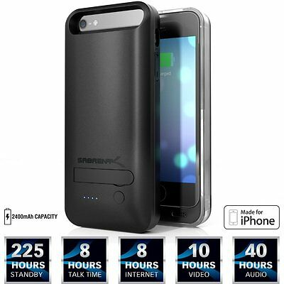 NEW Sabrent 2400mAh MFI Apple Certified Premium Rechargeable Extended