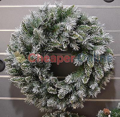 Premier 60cm Snow Tipped Green Christmas Wreath Decoration